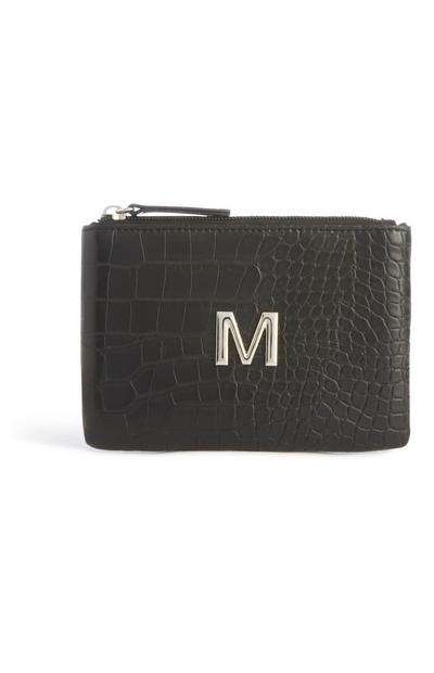 Black Snake Initial Pouch