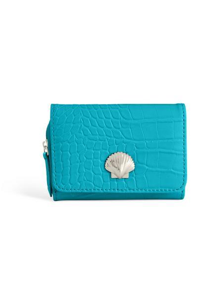 Blaugrüner Geldbeutel mit Muschel