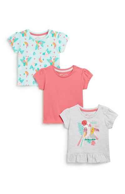T-Shirt für Babys (M), 3er-Pack