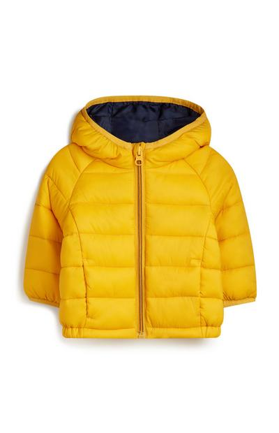 Baby Boy Yellow Puffer Coat