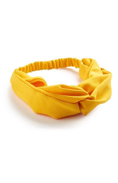 Senfgelbes Haarband