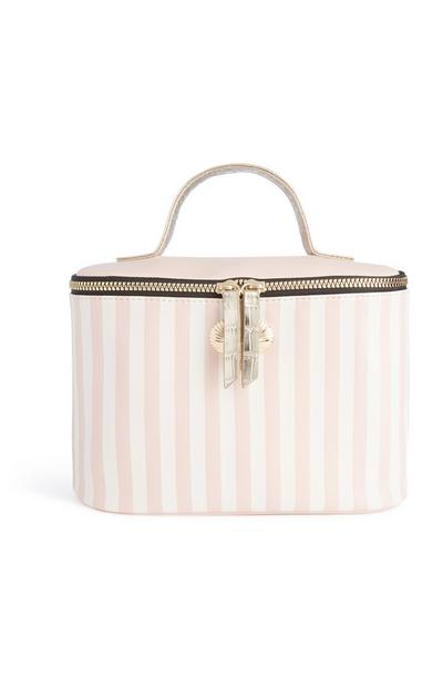 Pink Stripe Box Bag