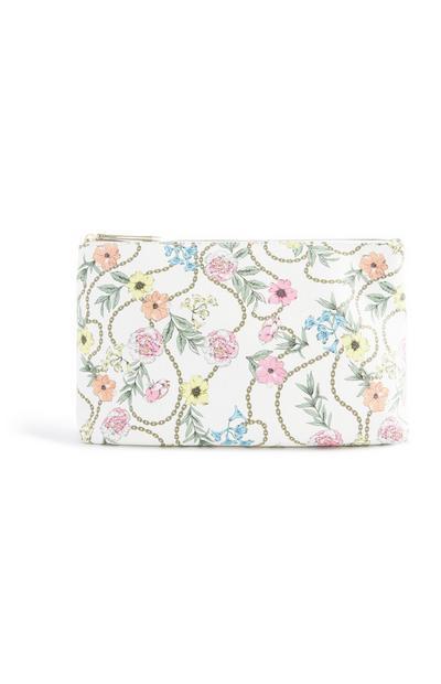 Make-up-Tasche mit Blumenmuster