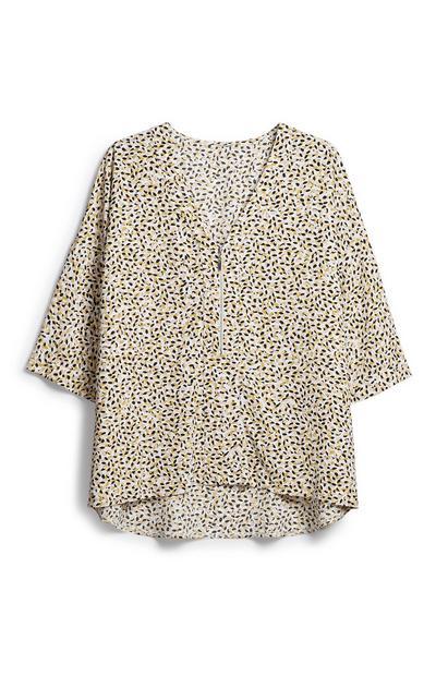 Oversize-Bluse mit Reißverschluss