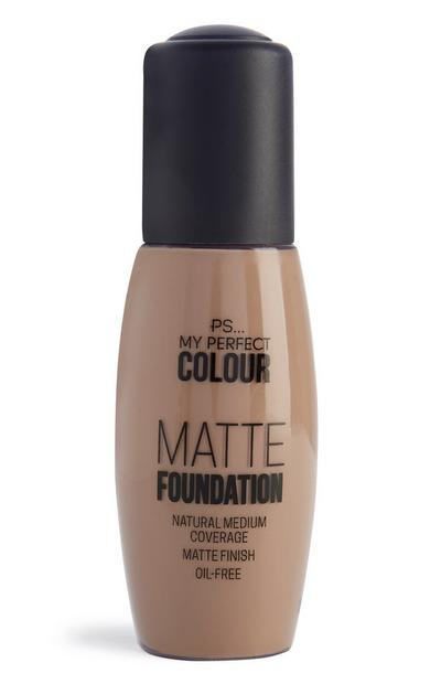 Mattierende Foundation in Hellbeige