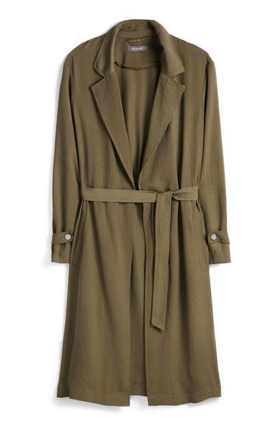 Khaki Maxi Duster Coat