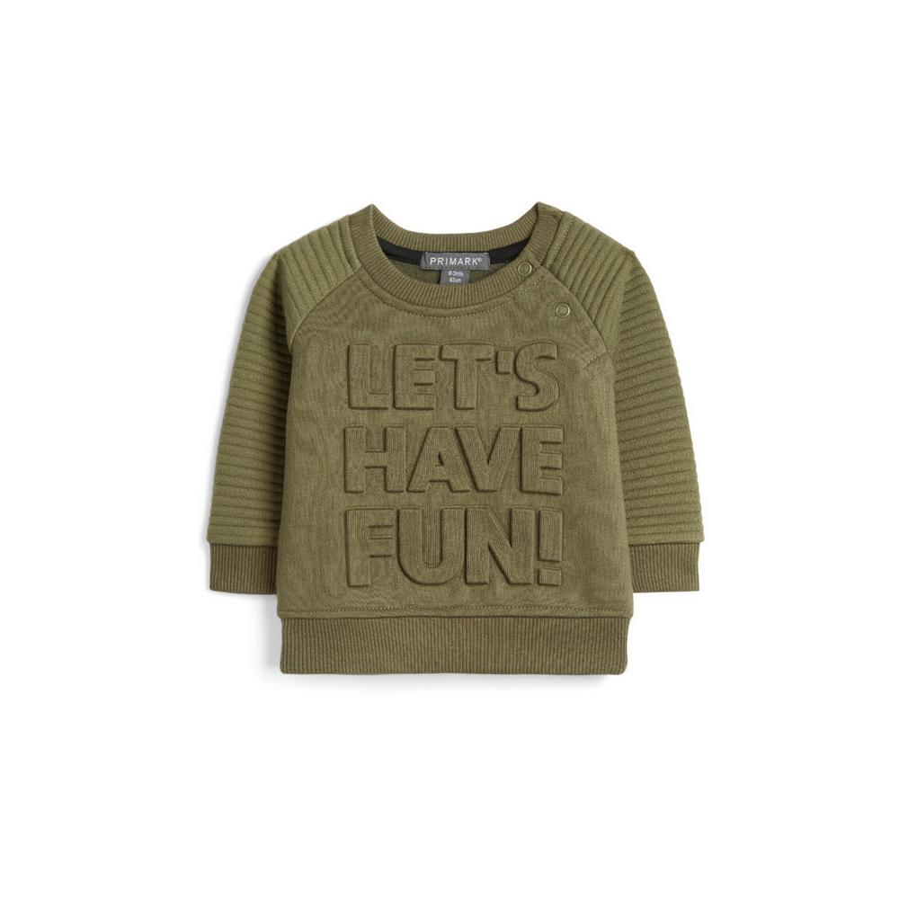 Baby Boy Khaki Jumper by Primark