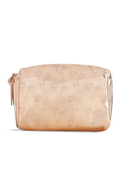 Palm Tree Makeup Bag