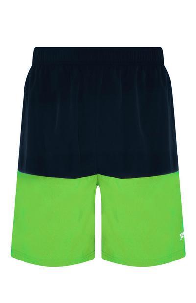 Limettengrüne Shorts in Blockfarben