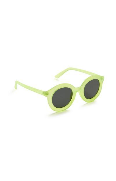 Runde Sonnenbrille in Hellgrün