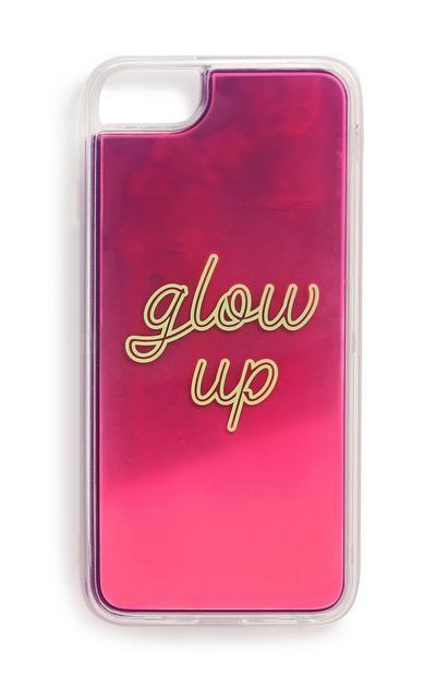 "Pinke ""Glow Up"" Handyhülle"