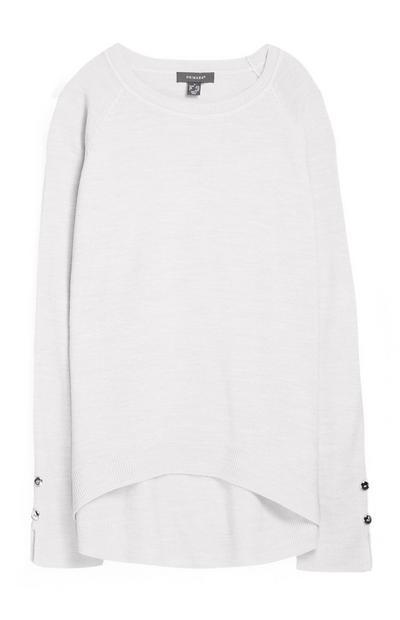 Superweicher Pullover in Weiß