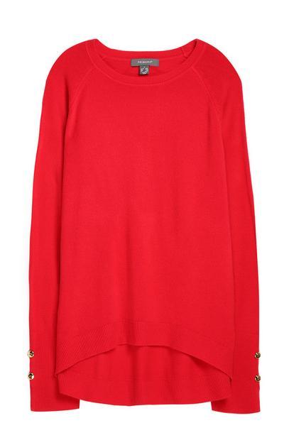 Superweicher Pullover in Rot