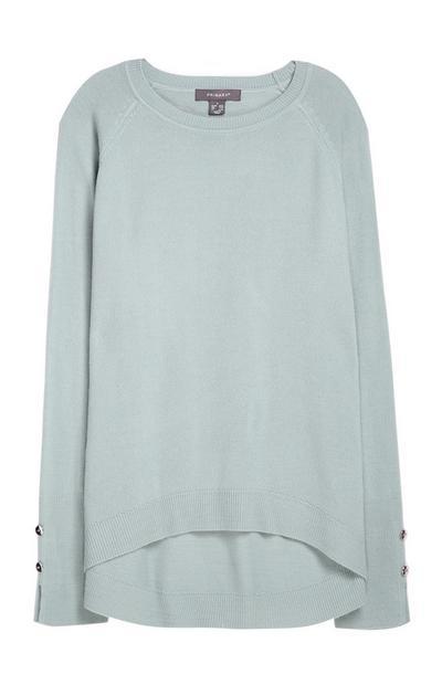 Superweicher Pullover in Blaugrün
