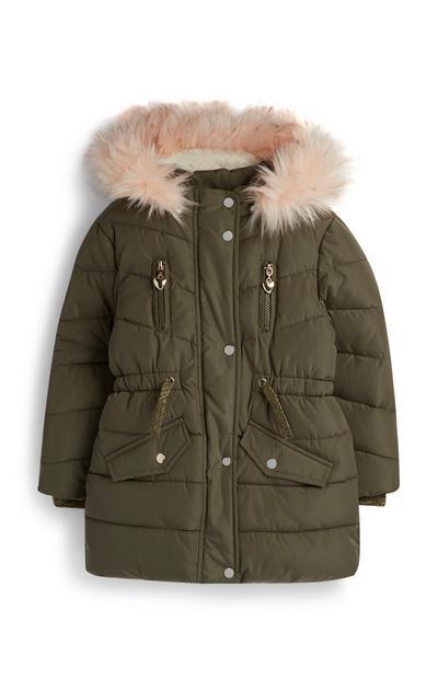 Younger Girl Khaki Padded Jacket