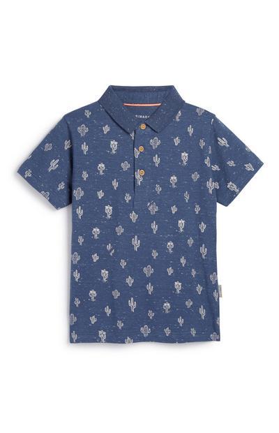 Poloshirt mit Kakteen (kleine Jungen)