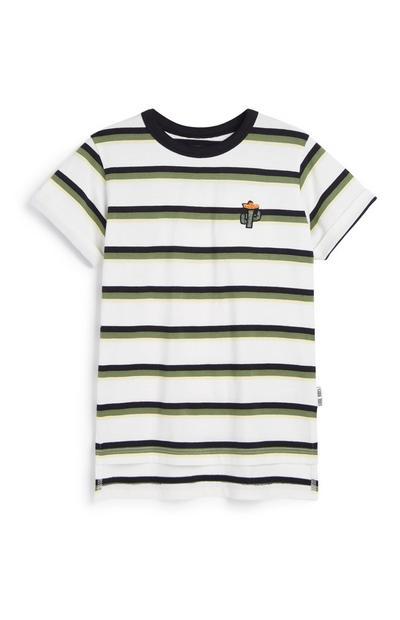 Younger Boy Cactus Stripe T-Shirt
