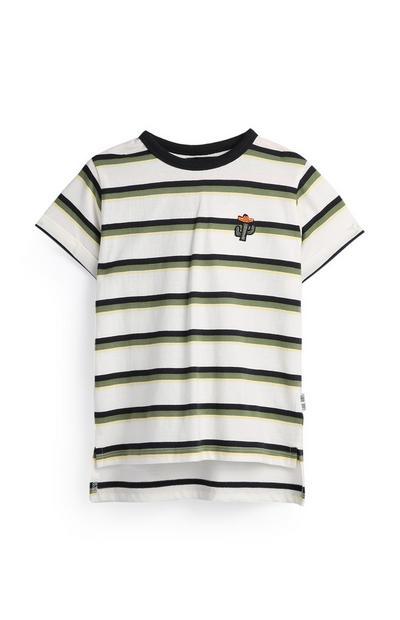 Gestreiftes T-Shirt mit Kaktus (kleine Jungen)