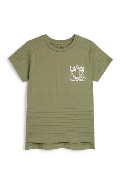 Khakifarbenes T-Shirt (kleine Jungen)