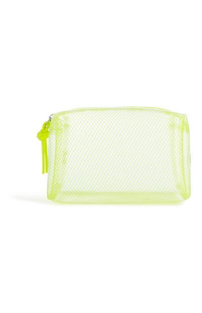 Grüne Tasche in Mesh-Optik