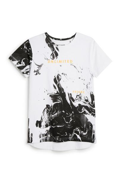 T-Shirt mit Marmormuster (Teeny Boys)
