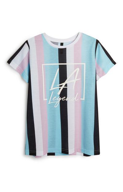 """Gestreiftes """"LA"""" T-Shirt (Teeny Boys)"""