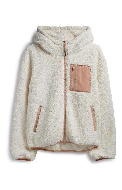 Cream Hooded Fleece