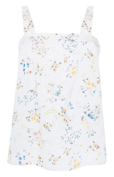 Pyjama-Trägertop mit Blümchenmuster
