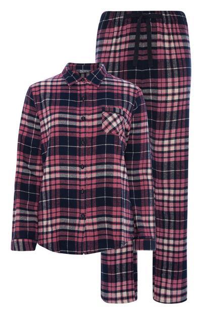 Burgundy Check Pyjama Set