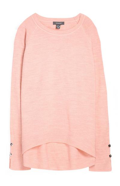 Superweicher Pullover in Rosa