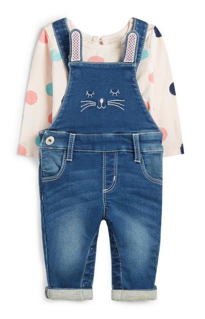 Baby Girl Dungarees