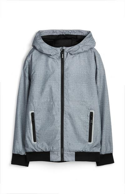 Older Boy Grey Reflective Jacket