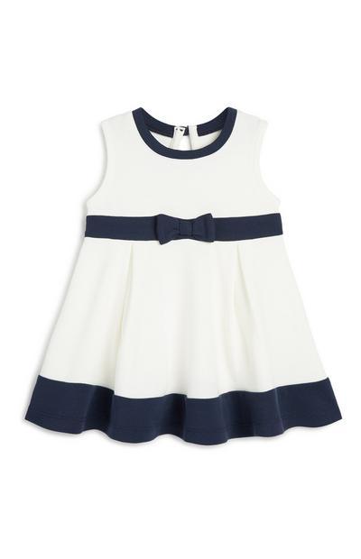 Kleid in Blau/Elfenbein für Babys (M)