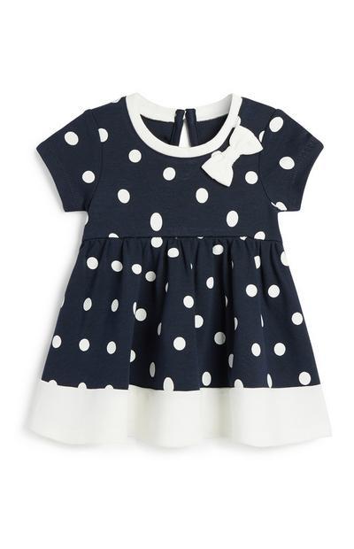 Gepunktetes Kleid für Babys (M)