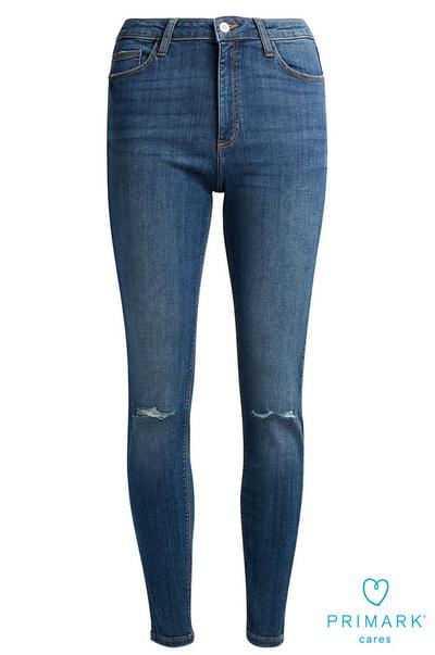 a04478b45b Sustainable Cotton Black Skinny Jean. £10.00. Dark Blue Ripped Sustainable  Cotton Jeans