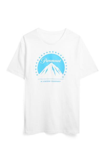 "Weißes ""Paramount"" T-Shirt"