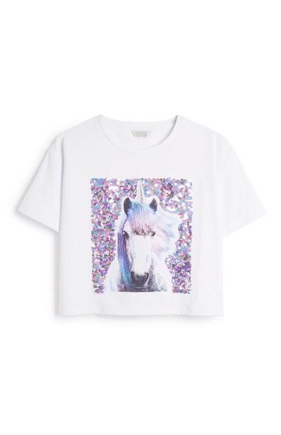 Top mit Einhorn-Print (Teeny Girls)