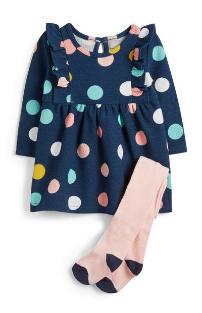 Baby Girl Spotted Dress And Socks