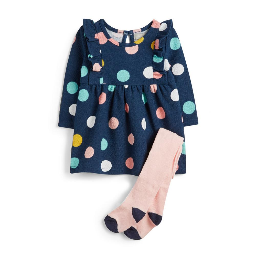 baby-girl-spotted-dress-and-socks by primark