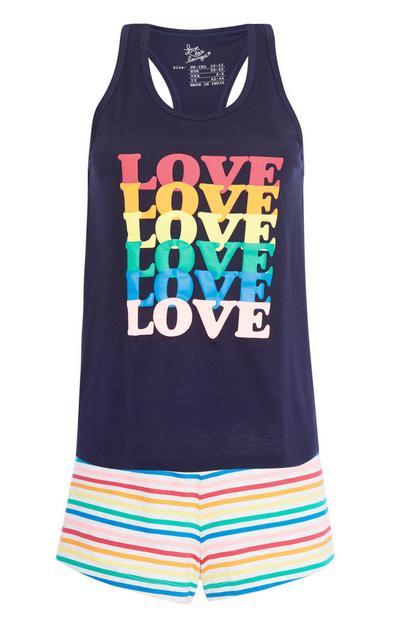 """Pyjamaset mit Aufdruck """"Love"""""""