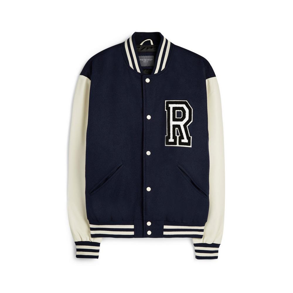 Navy Varsity Jacket   Coats & Jackets   Mens   Categories