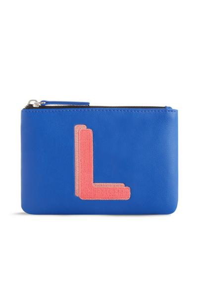 Blue Initial Coin Purse