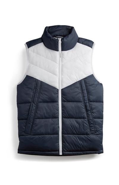 Navy And White Gilet