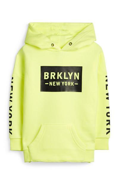 Younger Boy Neon Brooklyn Hoodie