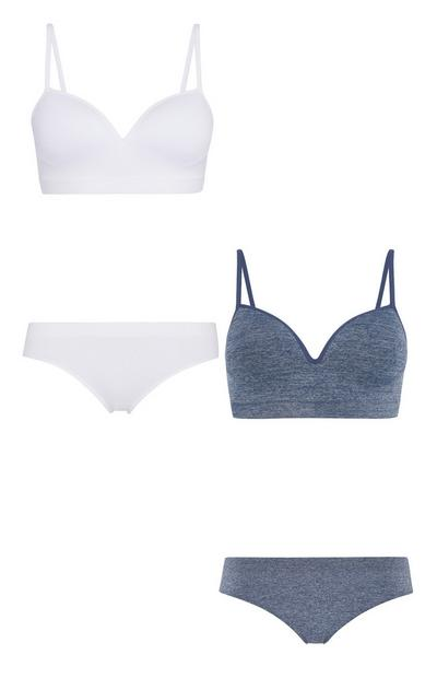 Wireless Bra And Brief 2Pk