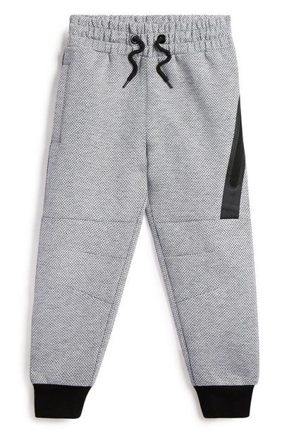 Younger Boy Grey And Black Jogger