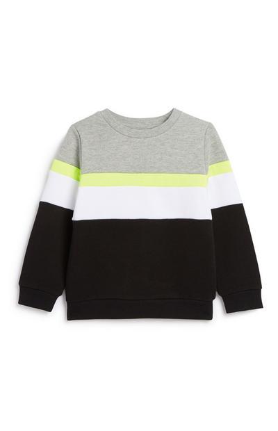 Younger Boy Colour Block Sweatshirt