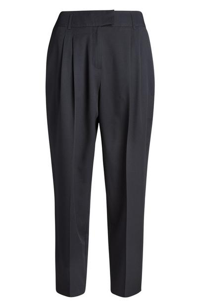 Black Peg Leg Trouser