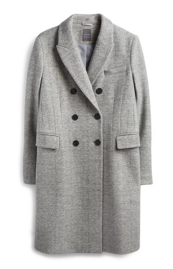 Langer Mantel in Grau