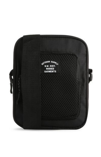 Schwarze Herrentasche